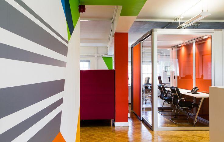 Valianty Office Interior -  #wallmural #hand-painted