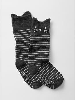 Stripe cat knee high socks | Gap