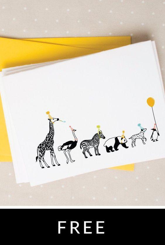 Paper * uitnodiging verjaardagsfeestje - free printable