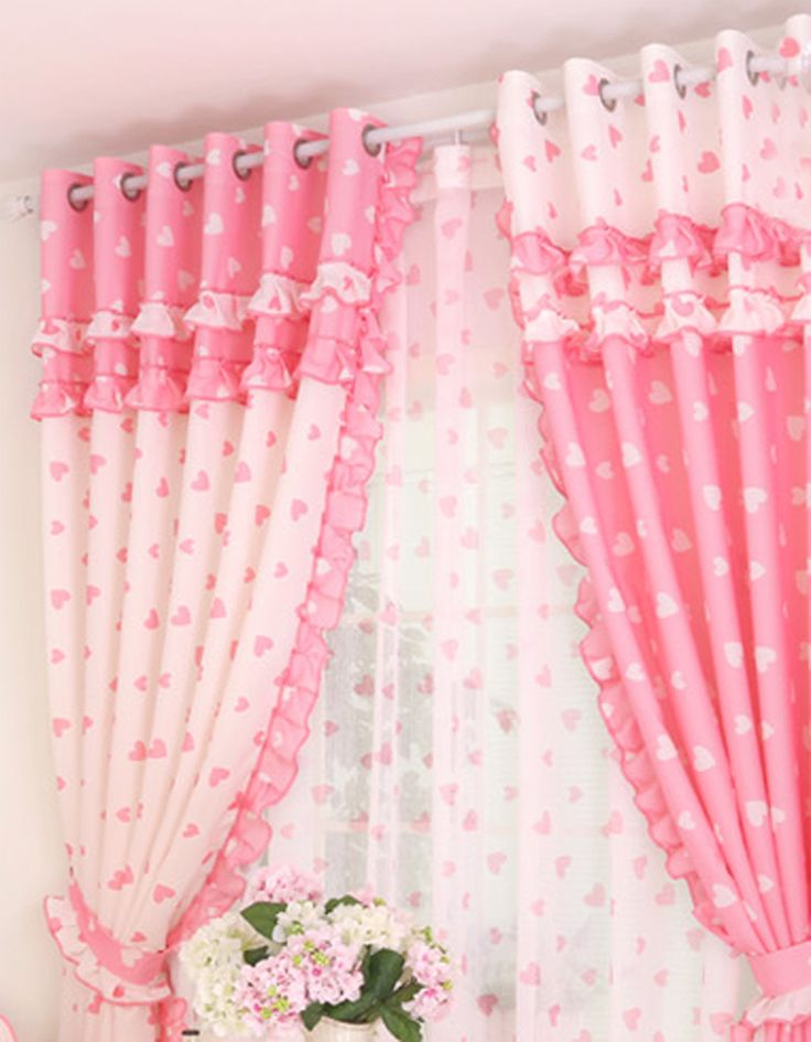 Delightful Pretty And Sweety Girls Bedroom Curtains Decorating Ideas   Baby .
