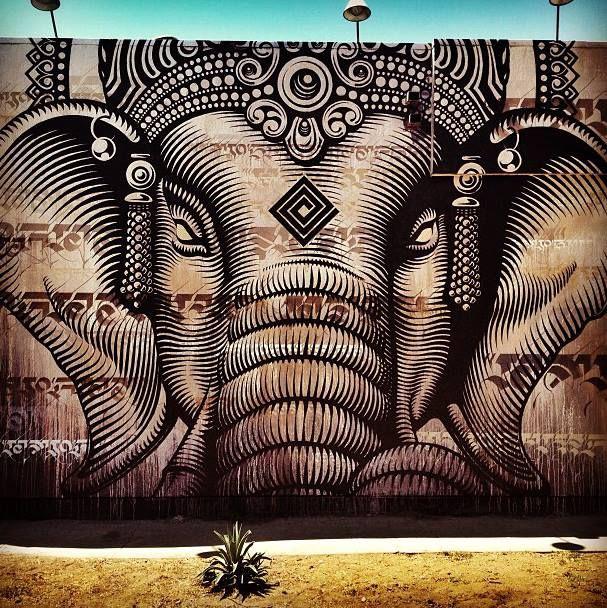 Foto: • ARTIST . CRYPTIK •  ◦ Ganesha ◦ location: Los Angeles, Usa
