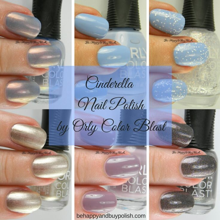 Cinderella Nail Polish by Orly Color Blast swatches + review | Be Happy And Buy Polish http://behappyandbuypolish.com/2015/11/29/orly-color-blast-cinderella-nail-polish-collection-partial/
