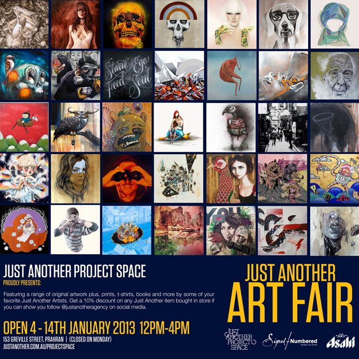 Just Another Fair Art runs for ONLY 10 days folks! So head to the Just Another Project Space from January 4-14th from 12-4pm!