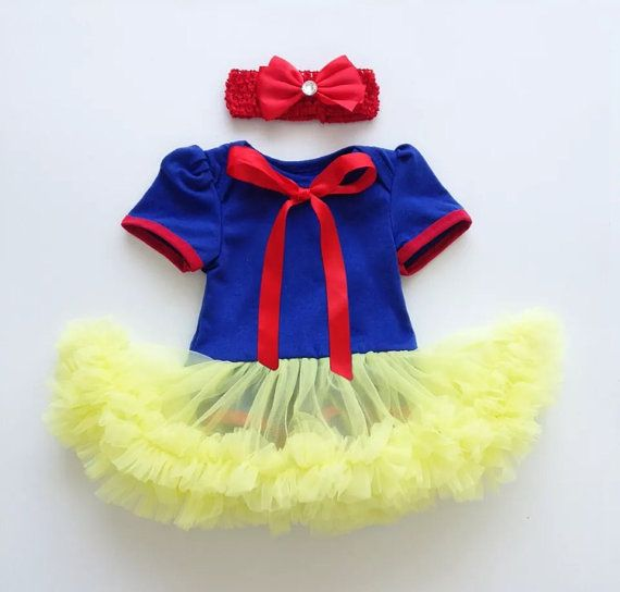 Adorable Halloween outfit/ halloween customs.  comes with the onese and tutu attached a red headband and hair clip.  3 sizes available  All