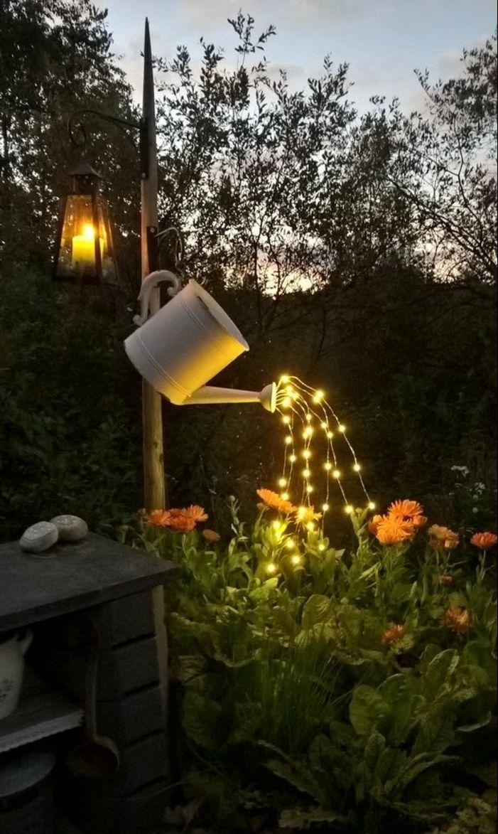 1001 ideas encantadores de dise o de patios decorados - Iluminacion para patios y jardines ...