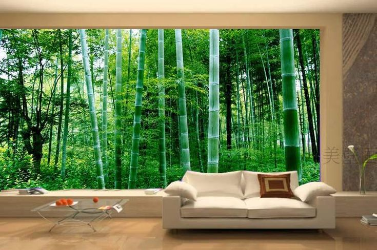 Alfa img showing modern wallpaper forest house for Nature room wallpaper