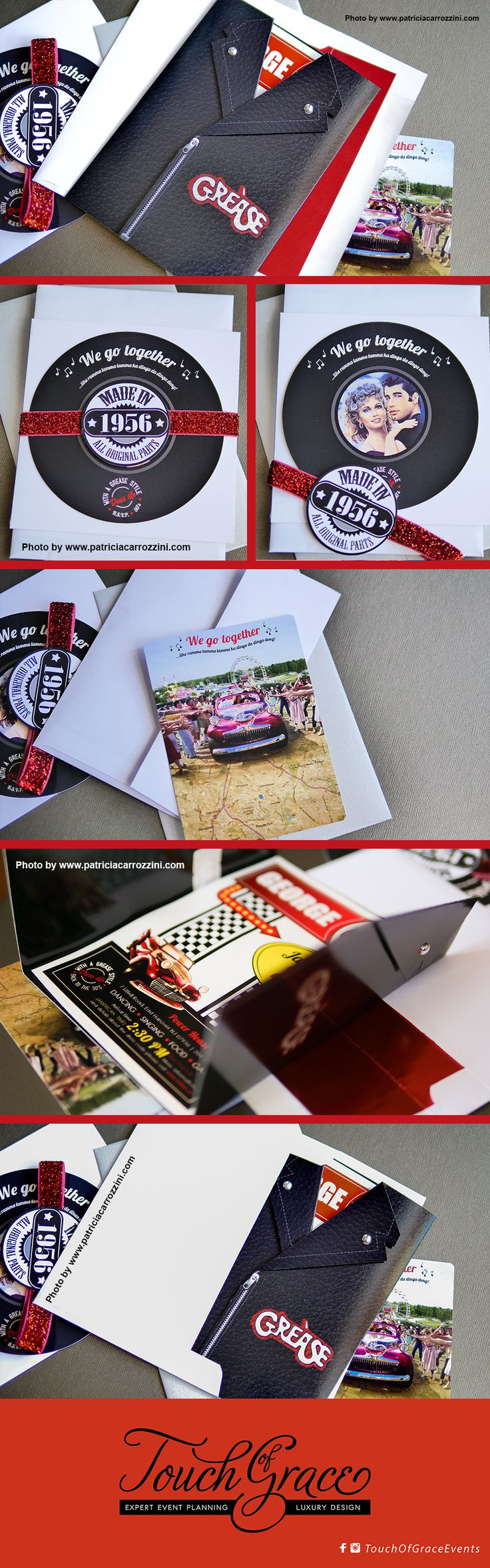 Adorable Party Ideas for Music Lovers: Musical Invitations for a 60th Birthday Celebration. Back to the 60's, Grease. We go together...