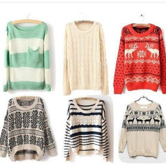 I've never really been a fan of sweaters, but dammit these are SOOO cute !