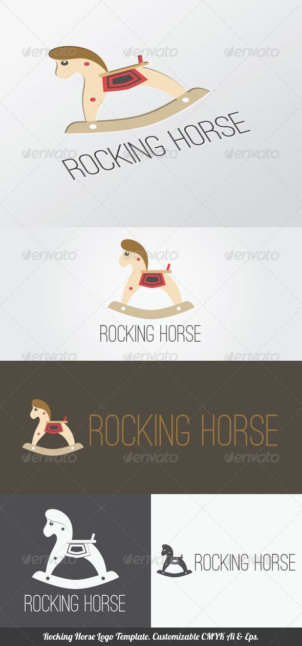 Rocking Horse Logo Template. Download here: http://graphicriver.net/item/rocking-horse-logo-template/4372501