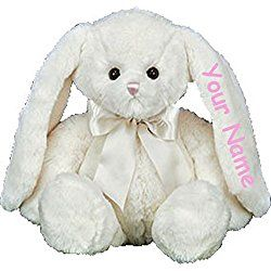 Personalized Bearington Collection Hops Easter Bunny Plush Stuffed Animal Toy - 14 Inches
