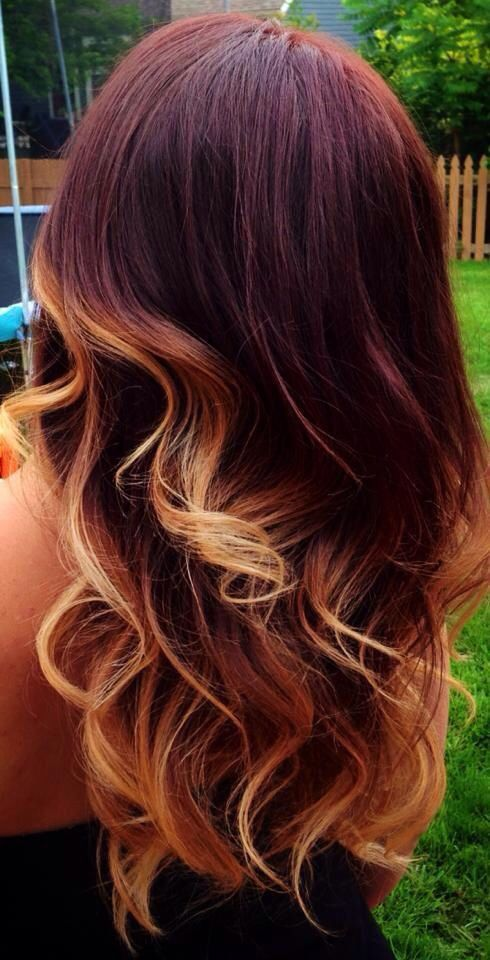 Red ombre blonde tips hair pinterest nice red ombre - Ombre hair blond selber machen ...