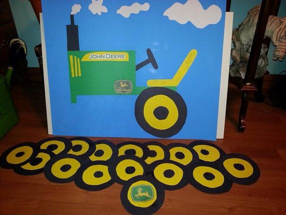 Pin the wheel on the tractor game on Etsy, $10.00
