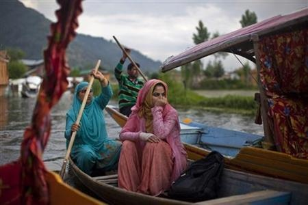 A Thomson Reuters Foundation poll finds that India's women are discriminated against, abused and even killed on a scale unparalleled in the top 19 economies of the world.: Galleries, Small Town, Troubled Hit Kashmir, Boats, Dal Lakes, Glimpse, Kashmiri Women, India Women, Women Travel