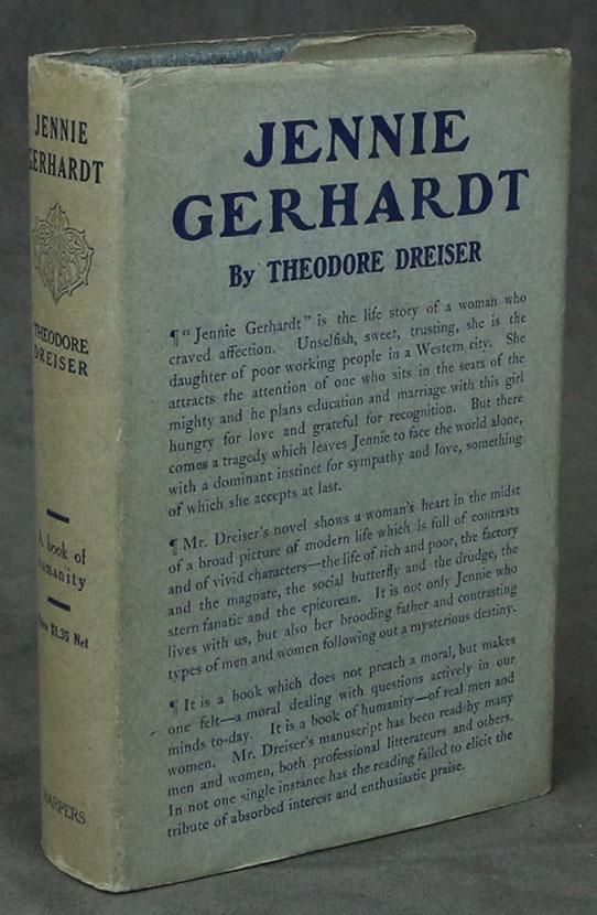 First edition of Jennie Gerhardt by Theodore Dreiser, 1911.