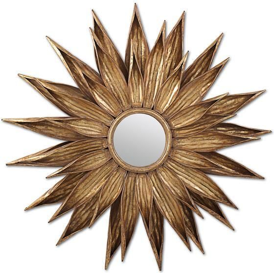 Sunflower Gold Wall Mirror    @Home Decorators Collection