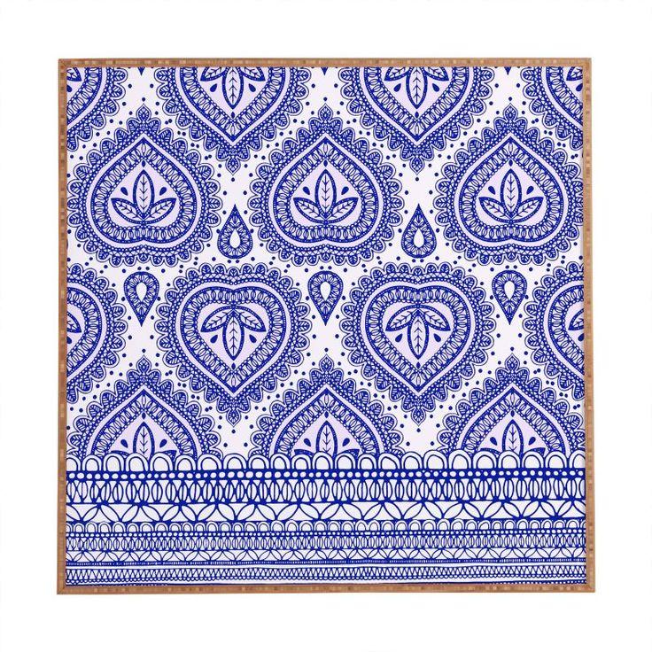 Deny Designs Decorative Blue Framed Art Print Aimee St Hill Wall Art