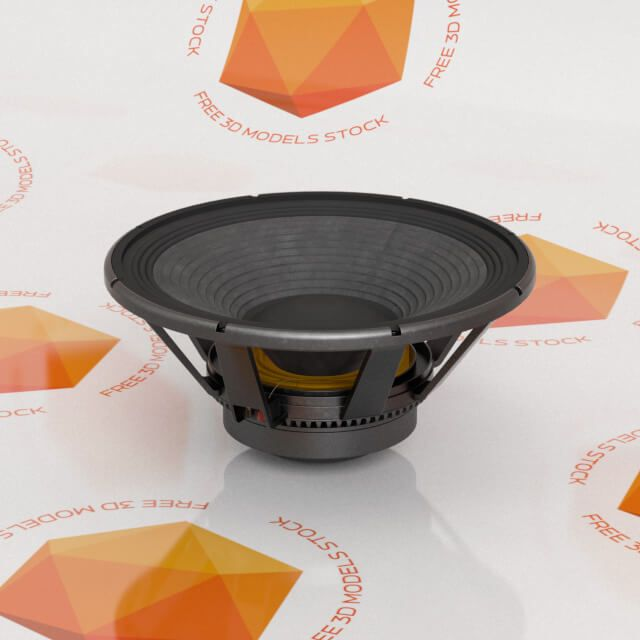 The professional speaker 3D model its a high detailed asset for use mainly in vfx compositions related with professional sound systems or show bussines.