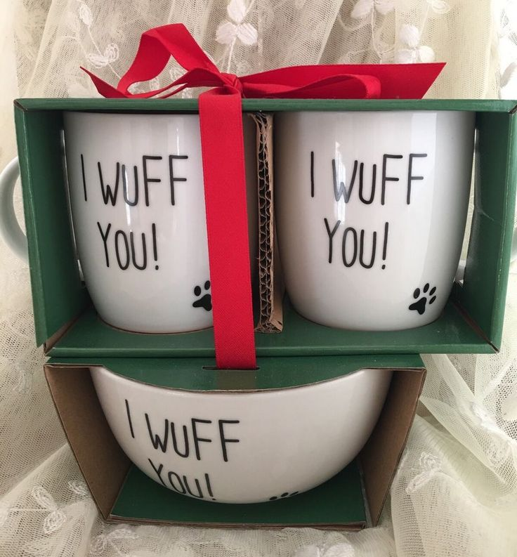 I Wuff You! Coffee Mug Bowl Set Dog Lover Rescue Pet Fur Babies Dad Mom Gift New | Collectibles, Decorative Collectibles, Mugs, Cups | eBay!