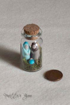 Miniature polymer clay Nativity scene by NinettaBijoux on Etsy More