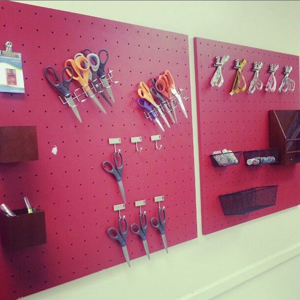 LOVING my new peg boards in my sewing classroom!  Helps SO much with organization - and the kids love it too!