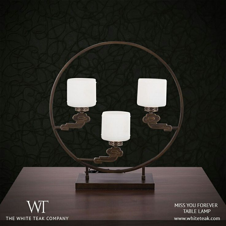 The unique design and the warm, soft and muted glow of the Miss You Forever lamp, makes every evening feel like a celebration! https://whiteteak.com/tl4-10001  #Lifestyle #Lighting #Dècor #WhiteTeak #Home #InteriorDesign #HomeLove #InteriorDècor #TableLamps