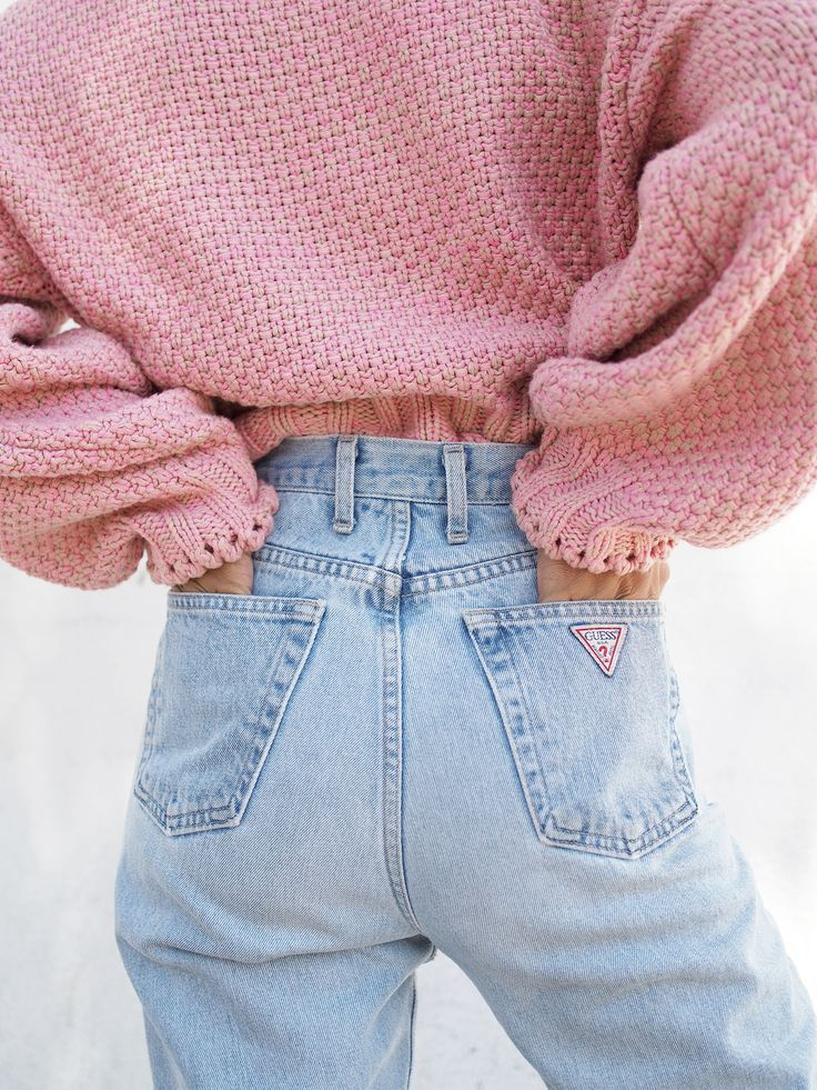 High Waisted Guess Denim SCREAMS 1990s. @thecoveteur