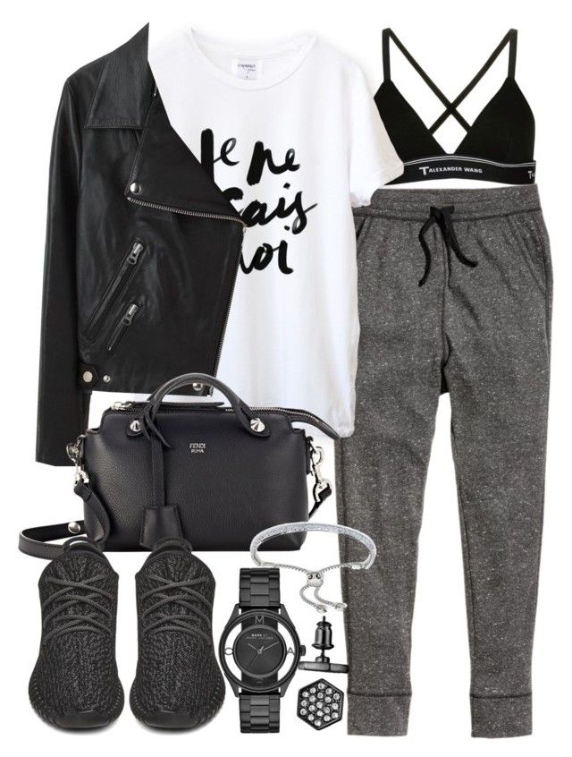 """""""Untitled #19160"""" by florencia95 ❤ liked on Polyvore featuring T By Alexander Wang, H&M, Acne Studios, Fendi, adidas Originals, Monica Vinader, Marc by Marc Jacobs and Simply Vera"""