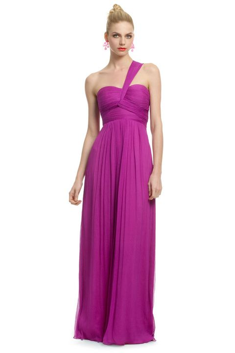 Orchid bridesmaid dress - wonder if the convertible dress can be wrapped like this?