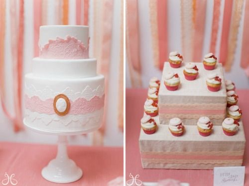 Tortas de boda románticas: Modern, Showers, Wedding Shower, Idea, Cakes, Bridal Shower, Bridalshower, Pink Bridal, Pink Cake