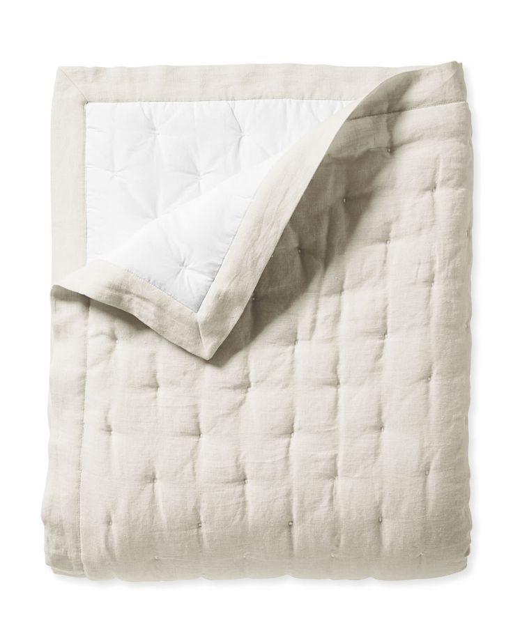 Sutter Linen Quilt Linen Quilt Grey Linen Bedding
