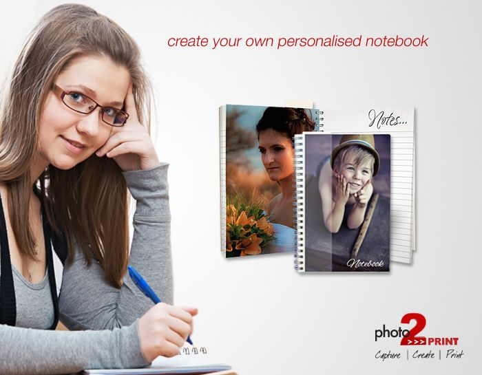 A personalised notebook makes a perfect gift for for anyone who loves making lists http://photo2print.co.za/notebook-a5-a6/