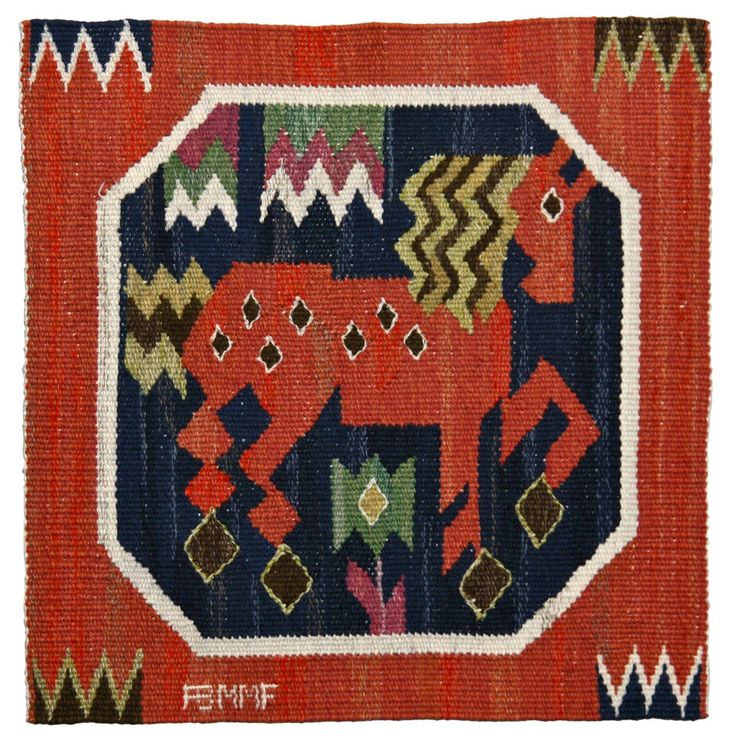 Marta Maas-Fjetterström Textile   From a unique collection of antique and modern russian and scandinavian rugs at https://www.1stdibs.com/furniture/rugs-carpets/russian-scandinavian-rugs/