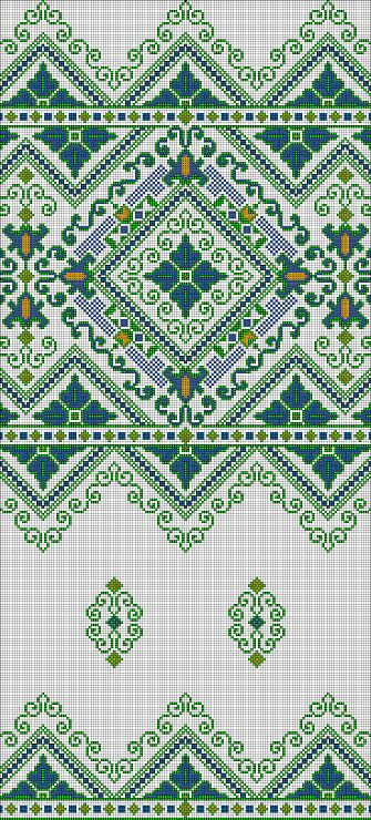 Cross-stitch Decorative Border... no color chart available, just use the pattern chart as your color guide.. or choose your own colors...    Gallery.ru / Фото #46 - для рушника - 123456TG