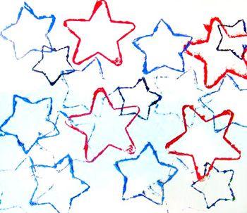 Preschool Crafts for Kids*: 4th of July Star Prints Craft