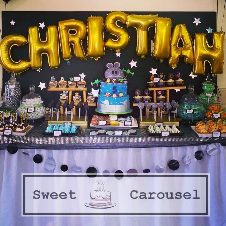 Angry Birds Star Wars Dessert Table Party by Sweet Carousel