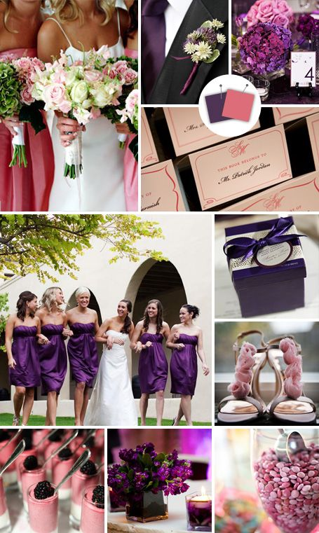 Dusty Rose and Eggplant... beautiful color palette for a fall wedding