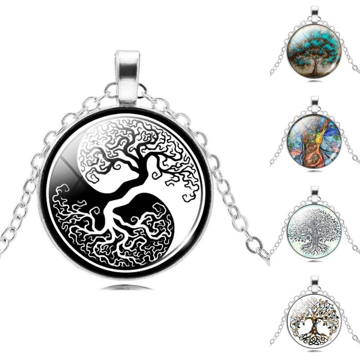 2017 Retro Style Jewelry Silver  Color with Glass Cabochon Tree of Life Shaped Choker Long Pendant Necklace for Women Gift //Price: $1.34 & FREE Shipping //     #hashtag1