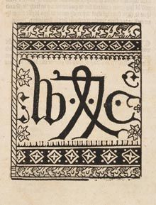 ENGLAND: William Caxton's Printers Trademark. Caxton was the first English printer, who, as a translator and publisher, exerted an important influence on English literature.