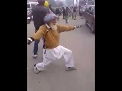 Videos For Fun: Desi Punjabi Baba Dance on Patiala Peg Funny