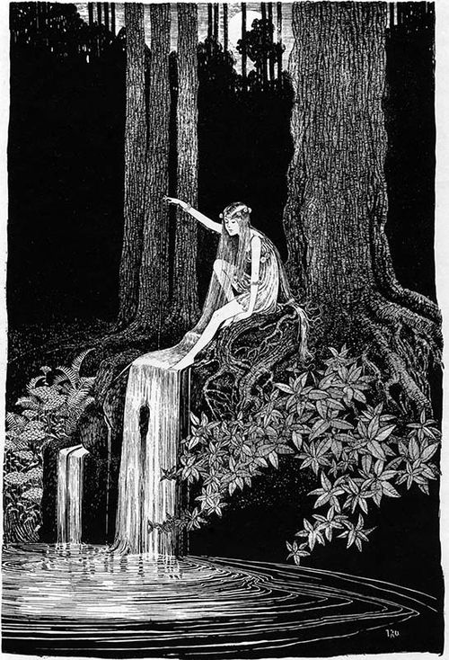 Ida Rentoul Outhwaite ~ The Waterfall Fairy ~ The Enchanted Forest ~ 1921
