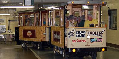 Bryan, Ohio- Spangler store, mueseum and Tour (where Dum Dums are made!) Ride the Dum Dum Trolley! http://www.usalovelist.com/2012/10/made-in-usa-halloween-american-made/