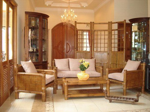 Natural Look On Bamboo Interior Design Ideas