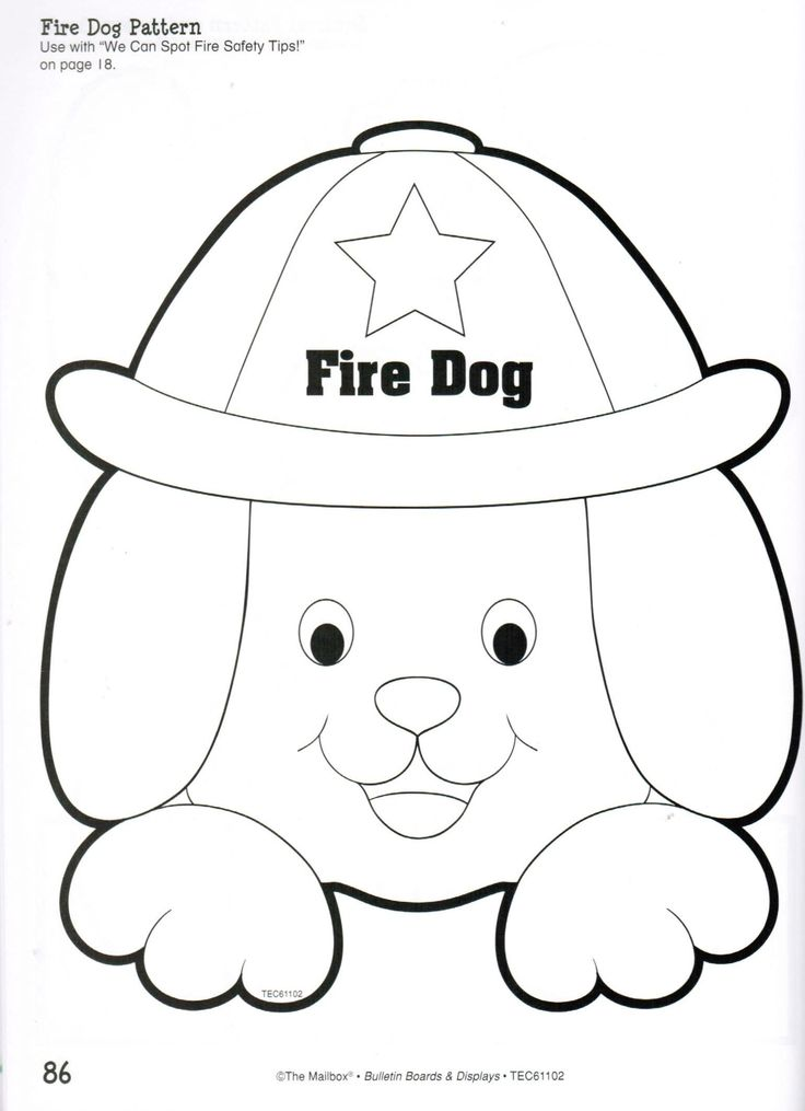Good Safety Coloring Pages 73 fire dog pattern