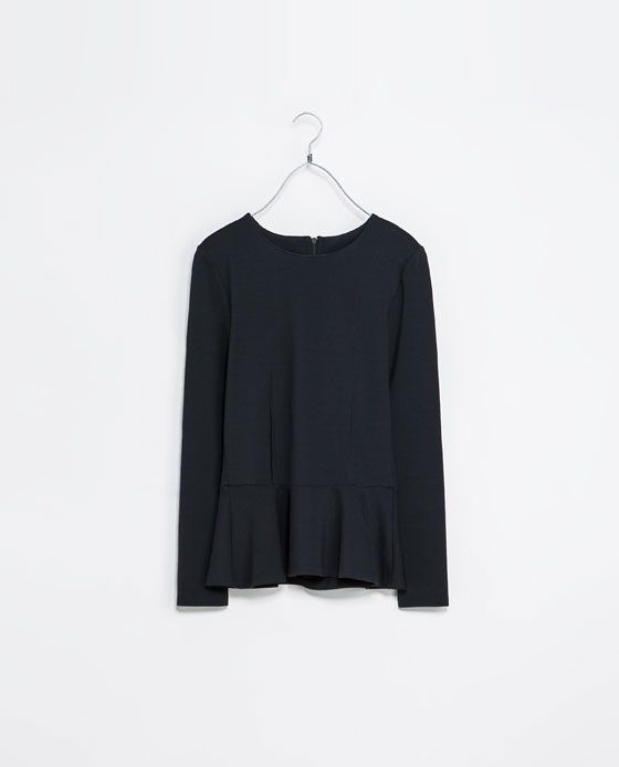 ZARA - NEW THIS WEEK - T-SHIRT WITH ZIPS