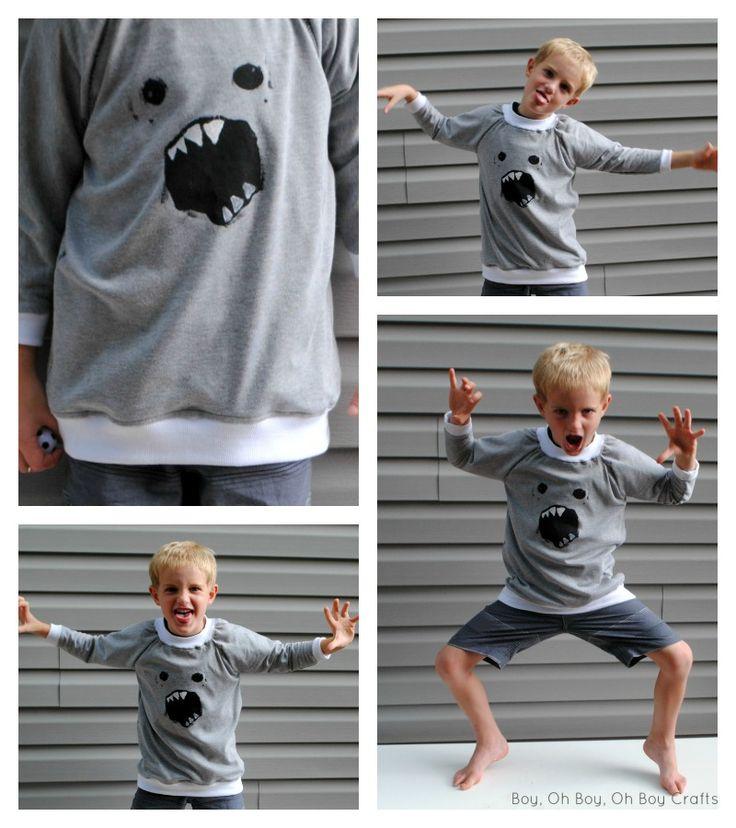 Boy, Oh Boy, Oh Boy Crafts: Sewing For Kindergarten: Raglan Sweatshirt (Free Pattern)