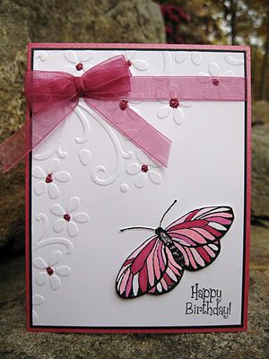 Stamps ~ Sweet 'N Sassy Everyday Miracles Paper ~ Shimmery Bazzil CS, White, Black Ink ~ Black Accessories ~ SU Embossing Folder, Stickles, Ribbon, Foam Tape, Copics