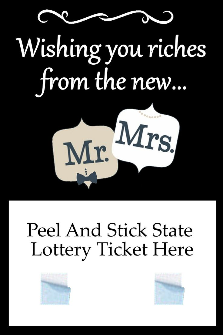 Mr. and Mrs.Wedding Lottery Ticket Holder Favor