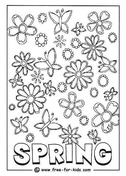 find this pin and more on of interest to the children free printable spring coloring pictures - April Coloring Pages Toddlers