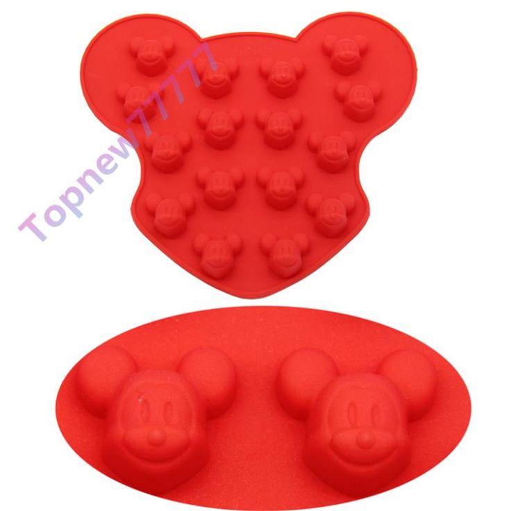 16 Hole Dos Desenhos Animados Mickey Mouse Molde Dos Doces De Chocolate Do Molde de Silicone Bolo Fondant decoração Ferramenta de Cozimento DIY F2611 em   de   no AliExpress.com   Alibaba Group
