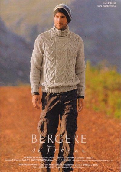 crochet men sweater patterns | Mens Turtleneck Sweater Crochet Pattern